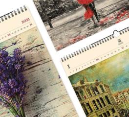 Luxusní dřevěné kalendáře